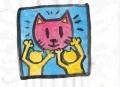 4猫のいる絵キースヘリング (1)