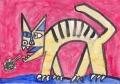 4猫のいる絵ピカソの毛玉を曰はく猫 (2)