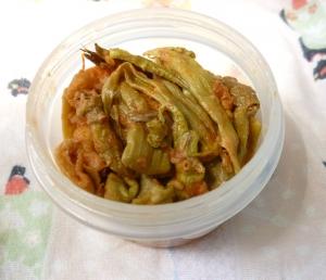 トマトとイタドリの炒め物