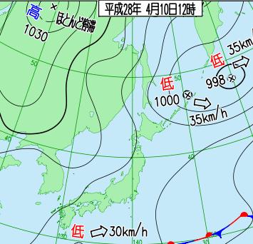 20160410天気図