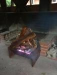 熊よけ焚き火