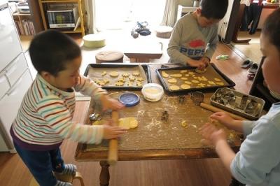 かんクッキー作り