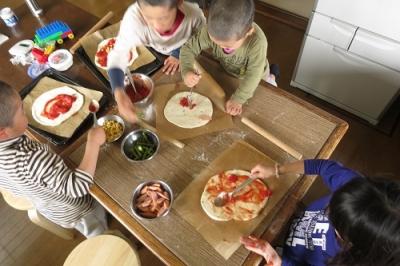 子どもとピザ大会