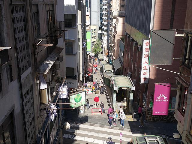 香港 中環 ヒルサイド・エスカレーター⑥