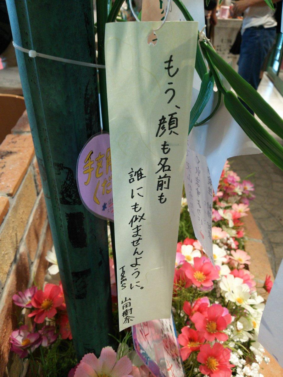 七夕の短冊に込められたSKE48山田樹奈ちゃんの悲痛な願いをごらんください
