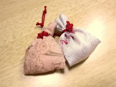 手作り体験した匂い袋です♪