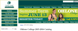 Ohlone college catalogue