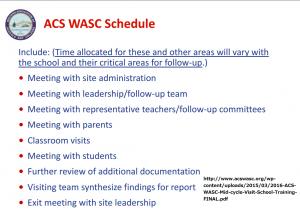 wasc Schedule