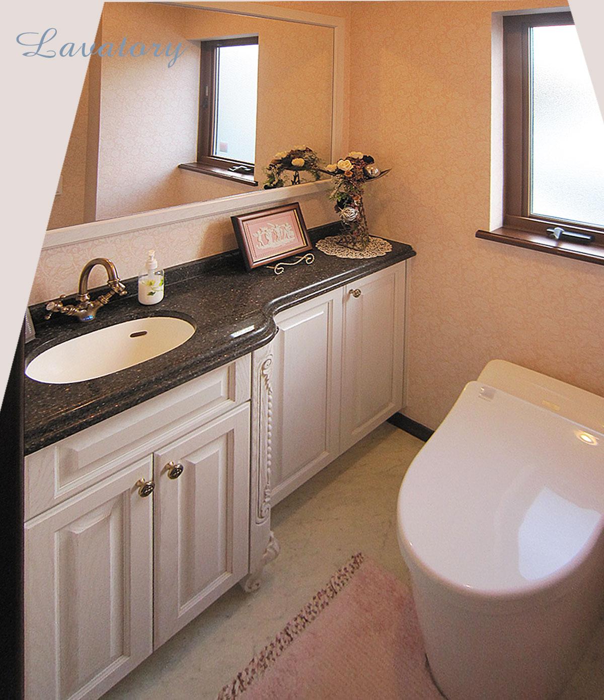 アニーズキッチン 家具調の手洗いカウンター