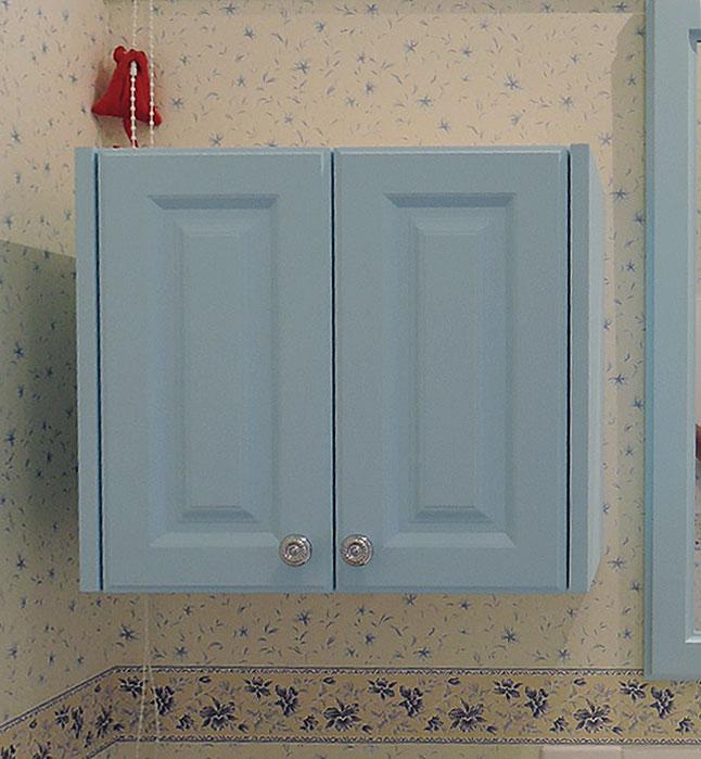 アニーズキッチン ブルーの吊戸棚