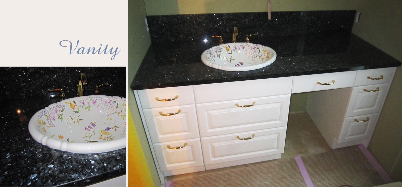 アニーズキッチン オーダー洗面台施工例