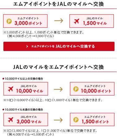 JALのマイル交換