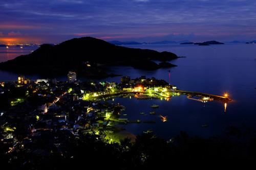 夜明け前の広島県福山市鞆の浦