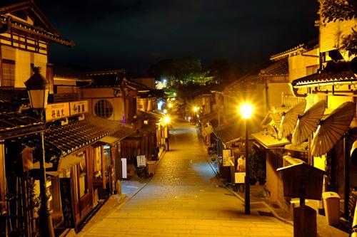 京都・二年坂の夜景1