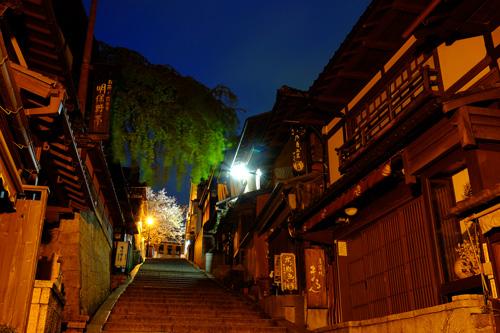京都・産寧坂の夜景