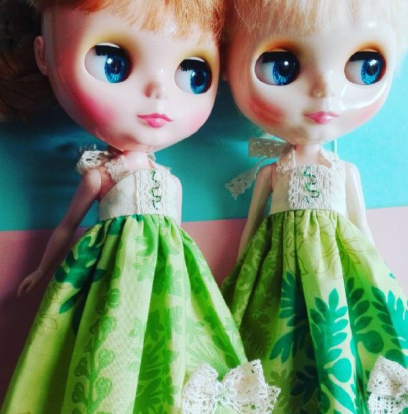 サマードレス 黄緑