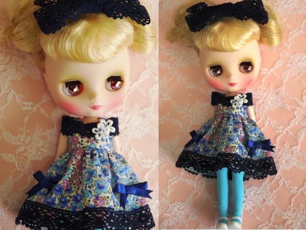◆ミディブライス◆青花柄ふんわりドレス2