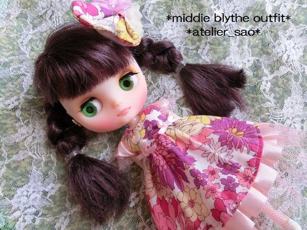 ミディブライス◆花と蝶のドレス◇ピンク 1