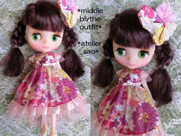 ミディブライス◆花と蝶のドレス◇ピンク 2