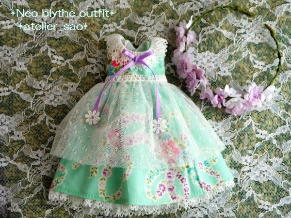 ◆ネオブライス◆大きな花柄ワンピ◇ミント 3