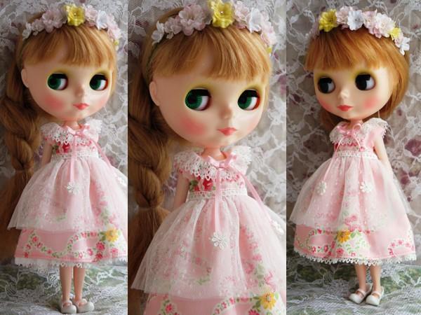 ◆ネオブライス◆大きな花柄ワンピ◇ピンク2