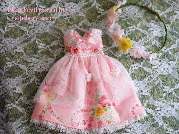 ◆ネオブライス◆大きな花柄ワンピ◇ピンク3