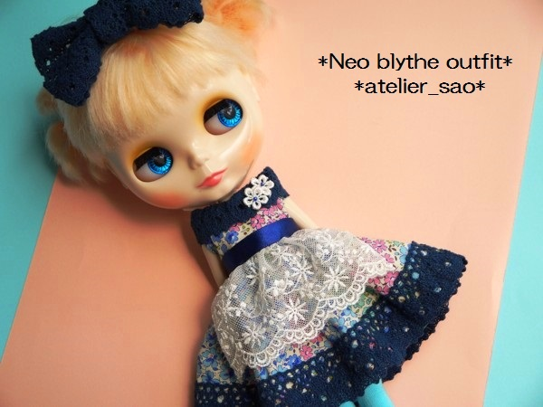 ◆ネオブライス◆青花柄ふんわりドレス1
