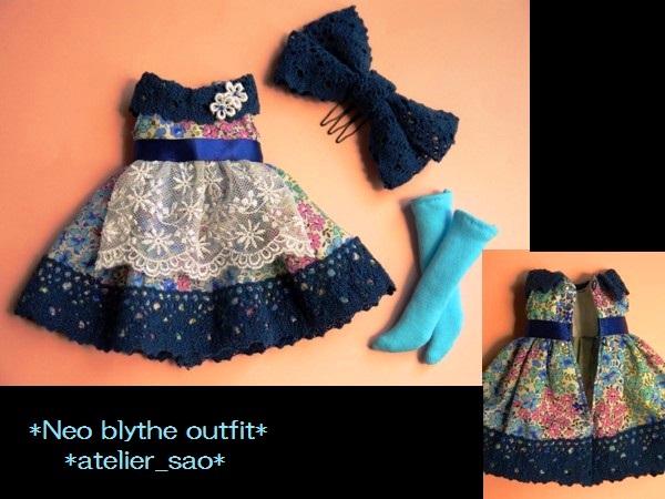 ◆ネオブライス◆青花柄ふんわりドレス3