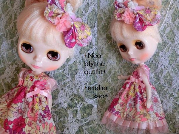 ◆ネオブライス◆花と蝶のドレス◇ピンク2