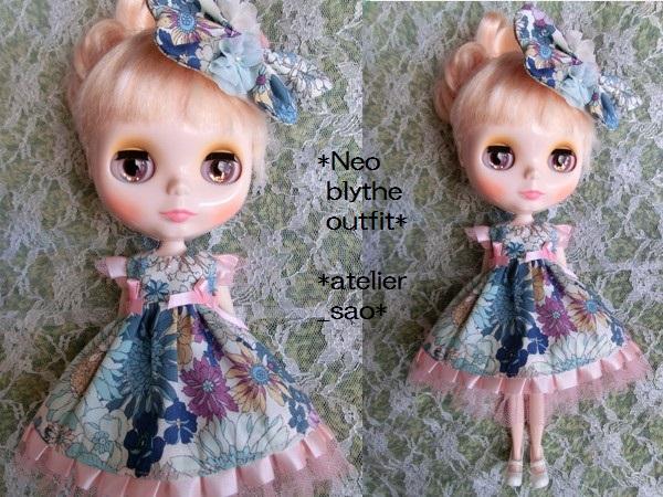 ◆ネオブライス◆花と蝶のドレス◇ブルー1