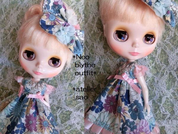 ◆ネオブライス◆花と蝶のドレス◇ブルー2