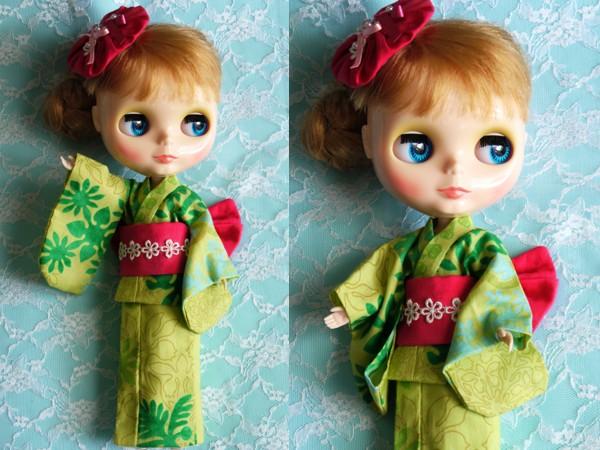◆ネオブライス浴衣◆ハワイアングリーン2