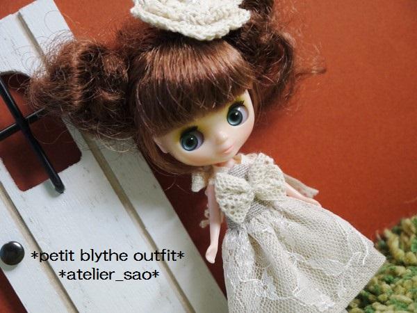 ◆プチブライス◆ナチュラルベージュサマードレス1