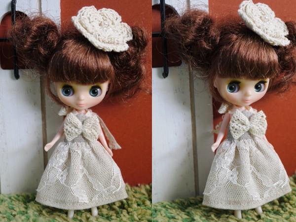 ◆プチブライス◆ナチュラルベージュサマードレス2