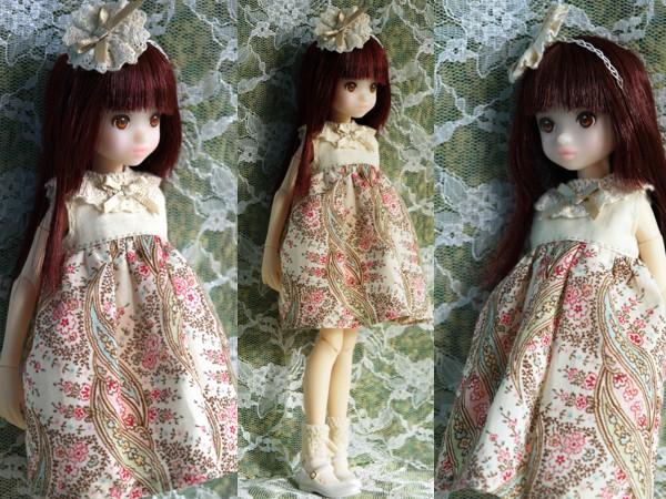 ruruko★小花柄ワンピピンク2