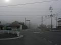 160409玉瀧交差点。霧が出てきた