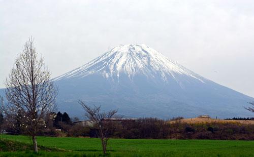 途中の景色富士山