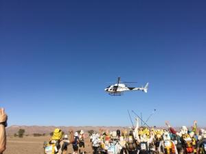 空撮ヘリを連写
