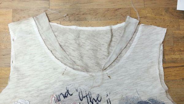 Tシャツ衿ぐりリメイク⑦