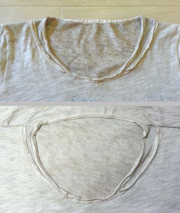 Tシャツ衿ぐりリメイク⑬