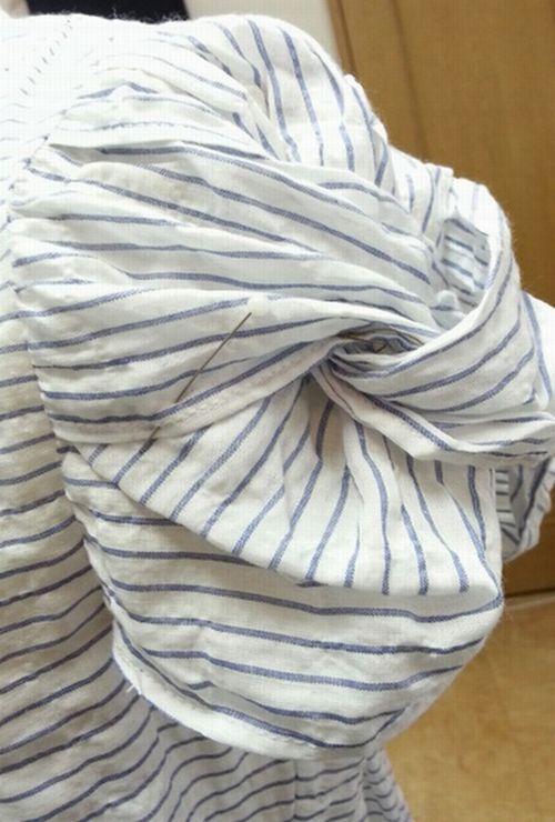 リボン袖リメイク③