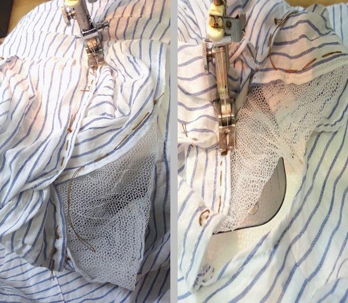 リボン袖リメイク⑦