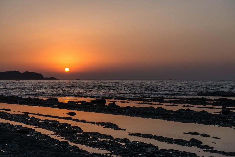 2016.04.08禄剛崎からの夕日4.1810