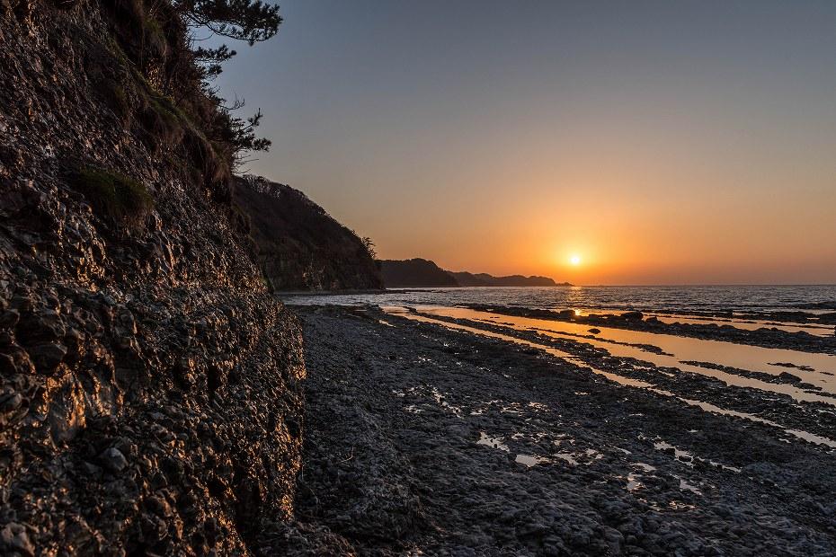 2016.04.08禄剛崎からの夕日2.1804
