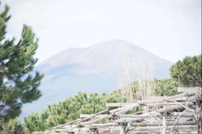 ヴェスビオ火山 ポンペイ近郊より 201603