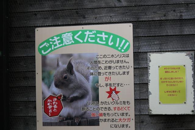 城山動物園:リス園入り口