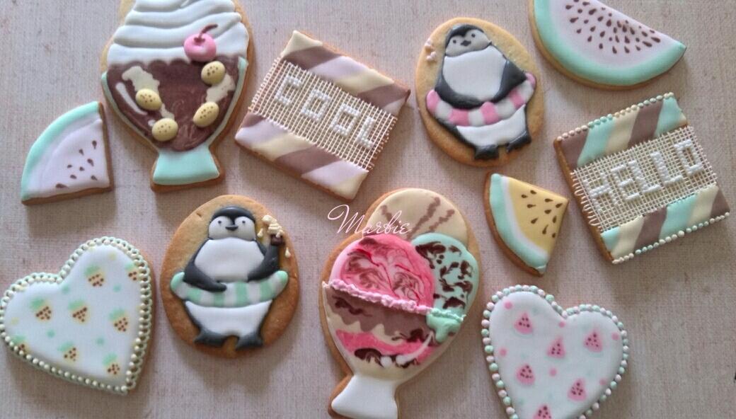 summer cookies set