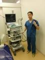 森ノ宮胃腸内視鏡クリニック 胃カメラを握る