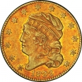 1822 Capped Head Left Half Eagle