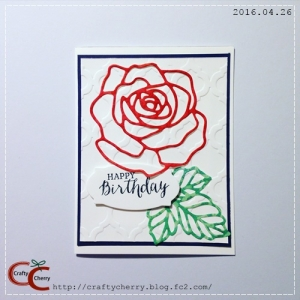 Crafty Cherry * BD rose